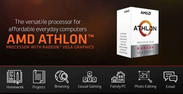 На подходе гибридные процессоры AMD Athlon 300GE и 320GE